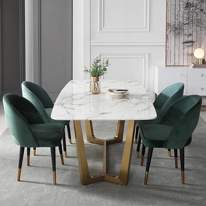 Velvet Dining Chairs Modern Luxury, Velvet Dining Room Chairs