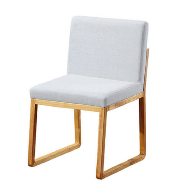 Fabric Upholstered White Kitchen Chairs - NORPEL