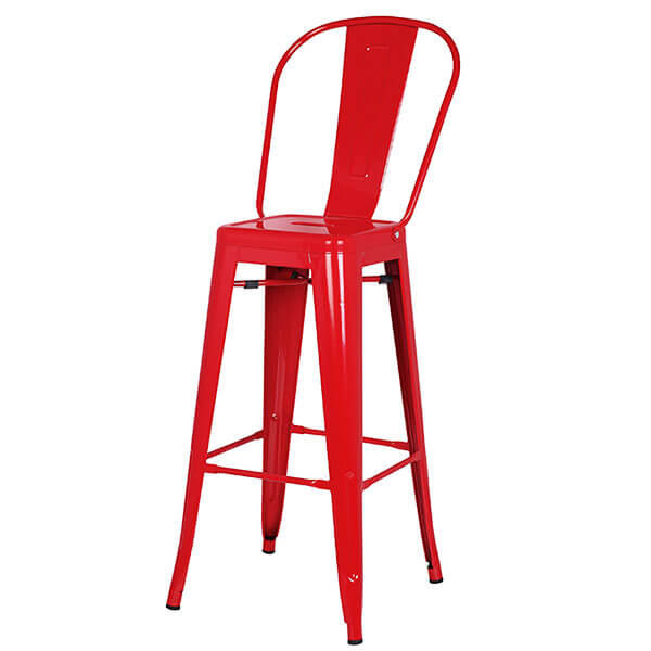 Pleasant Tolix Bar Stool 76Cm Height With Back Norpel Furniture Uwap Interior Chair Design Uwaporg