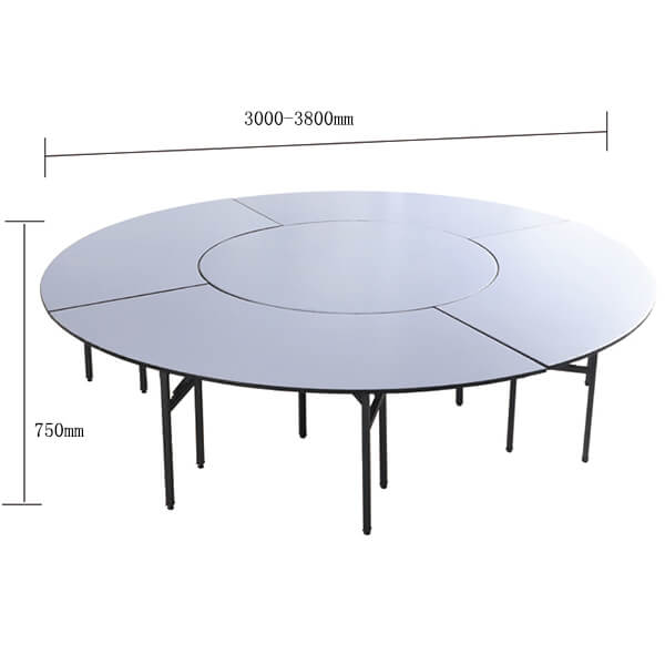 18 people round banquet hall table dimensions