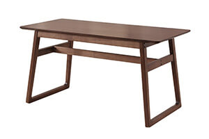 Rectangle wood dining table