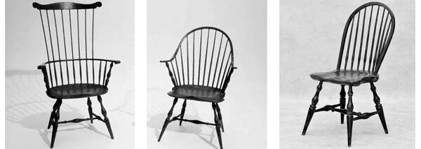 3 kinds of antique windsor chairs