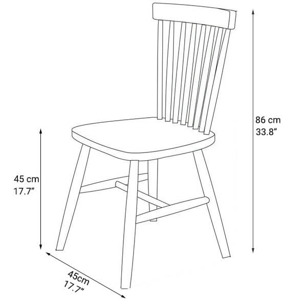 windsor chair dimension Norpel