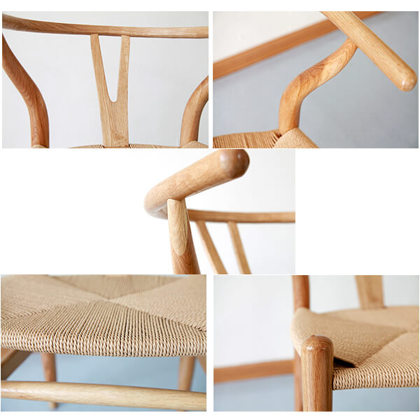 Wishbone chair beauty curve details