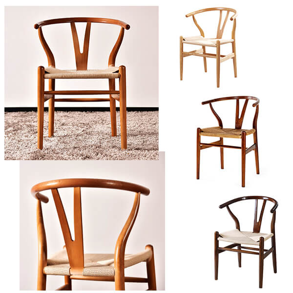 Different frame color of wishbone chairs