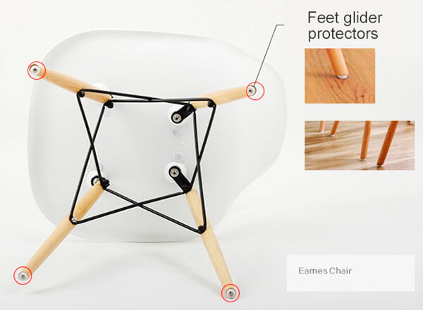 Eames molded plastic chair gliders