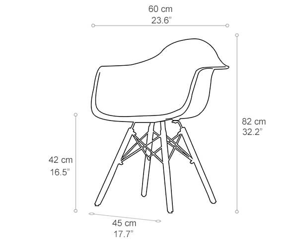 Miraculous Eames Armchair Daw Molded Plastic Chair Replica Norpel Ocoug Best Dining Table And Chair Ideas Images Ocougorg