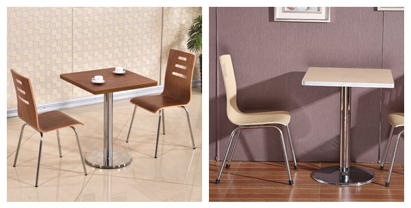 Fast food restaurant tables and chairs