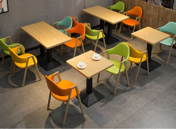 Orange bistro and cafe chairs