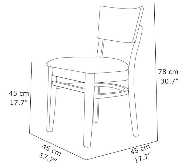 affordable dining chairs dimension