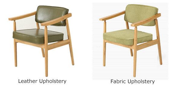 wooden armchair upholstery options