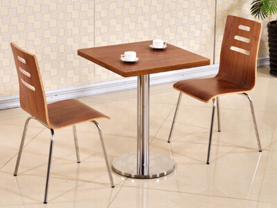 Fast food dining table and chairs set