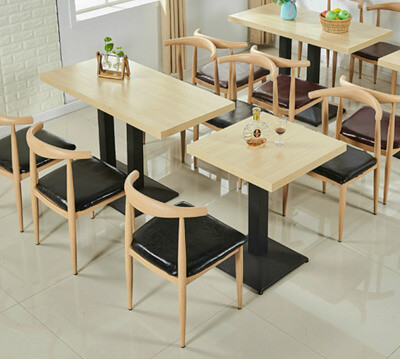 Steel elbow chairs and table set