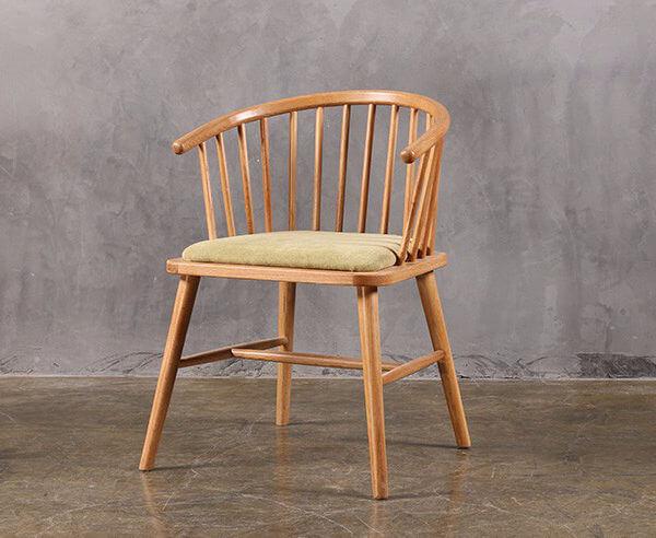 White ash modern windsor armchair
