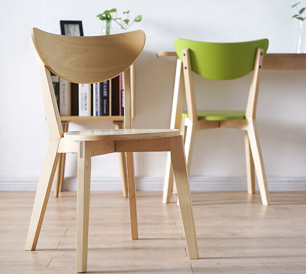Birch frame chair