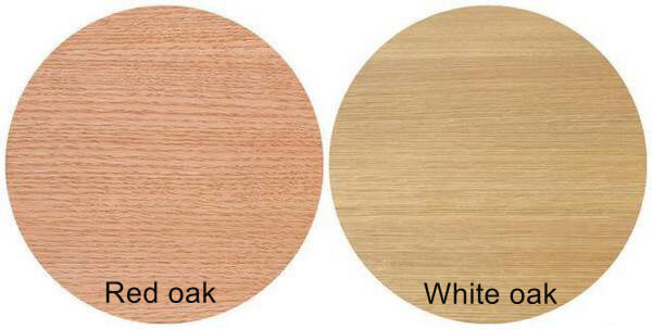 Red and white oak