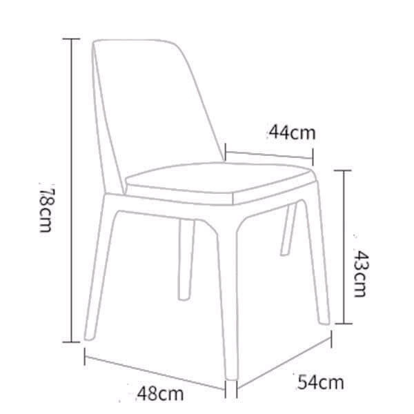 Grace chair modern dining chairs dimension