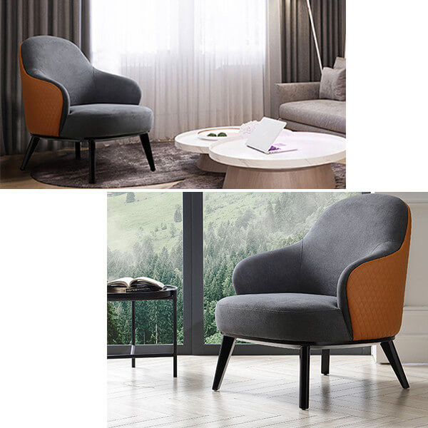 Luxury and comfortable living room chair