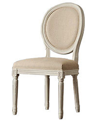 french oval back dining chair