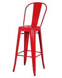 tolix bar stool with back