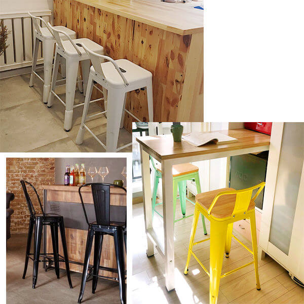 Tolix Bar Stools With Back Application