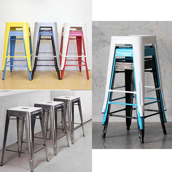 Tolix stool stackable