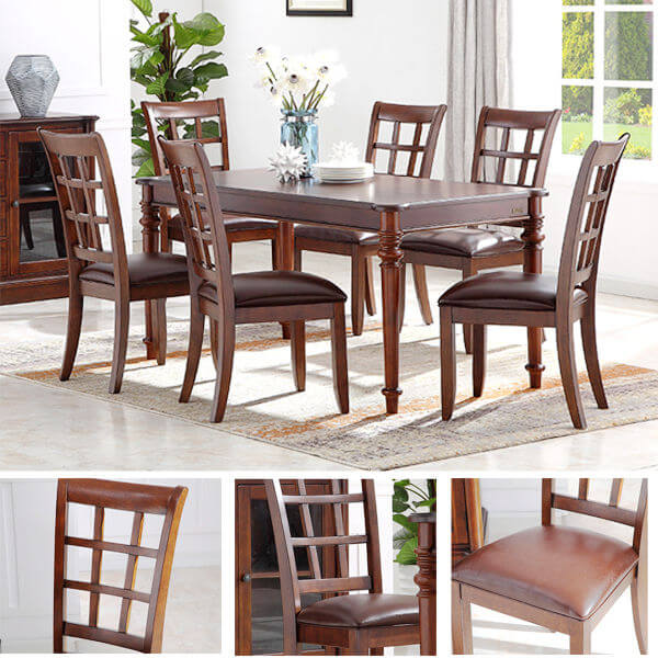 Wooden Kitchen Chairs Dining Set