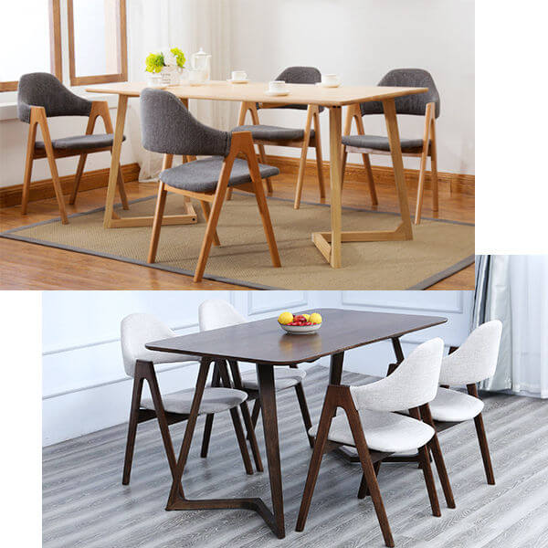 cheap dinig chair A shape chairs set of 4 with dining table