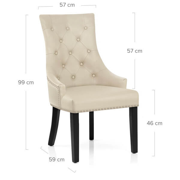 N-122 Upholstered Dining Chairs dimension