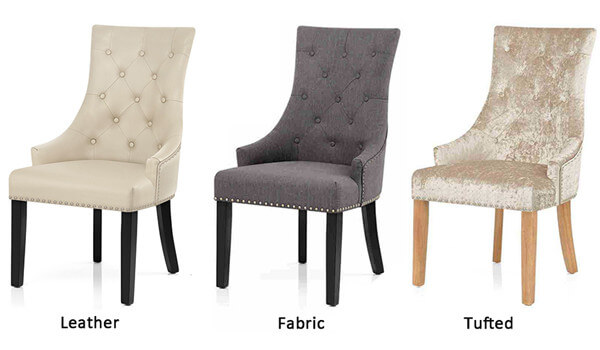 Upholstered Dining Chairs with difference surface