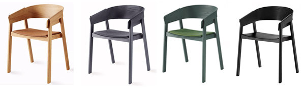 Scandinavian muuto cover dining chairs replica 4 color options