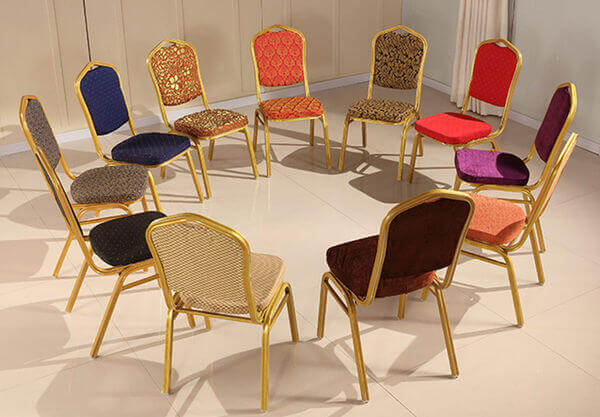 Banquet chairs different fabric options