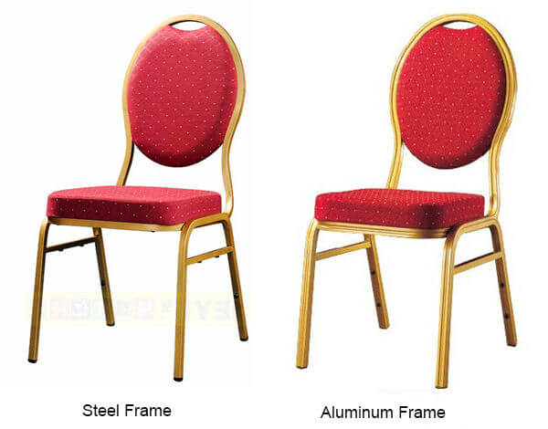 iron and aluminum stackable banquet chairs