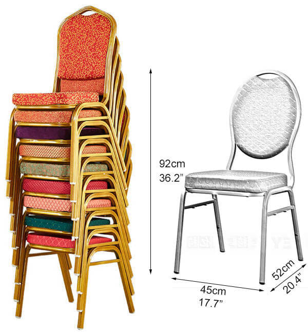 stackable banquet chairs dimension
