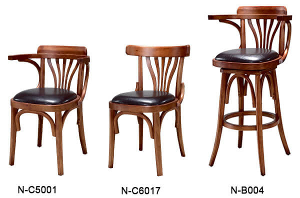 wooden restaurant chairs images