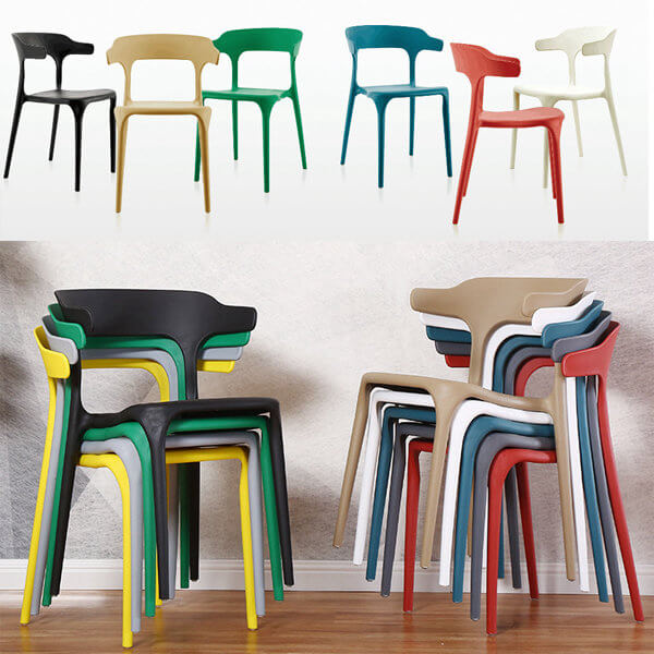 colored platic restaurant chairs