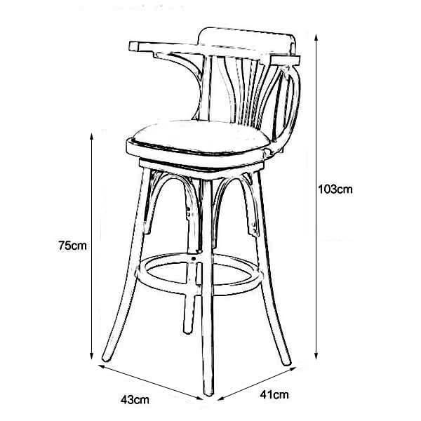N-B004 restaurant bar stool height 40.5inch