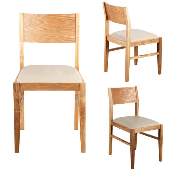 Solid wood cheap restaurant dining chairs