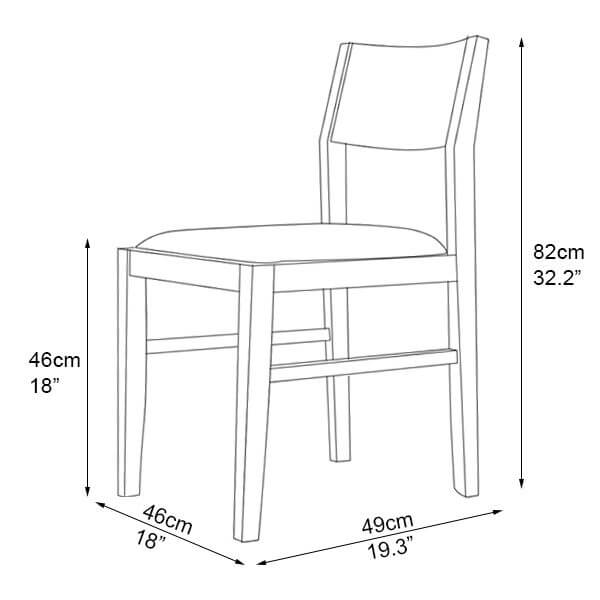 N-C6020 cheap restaurant chair dimension