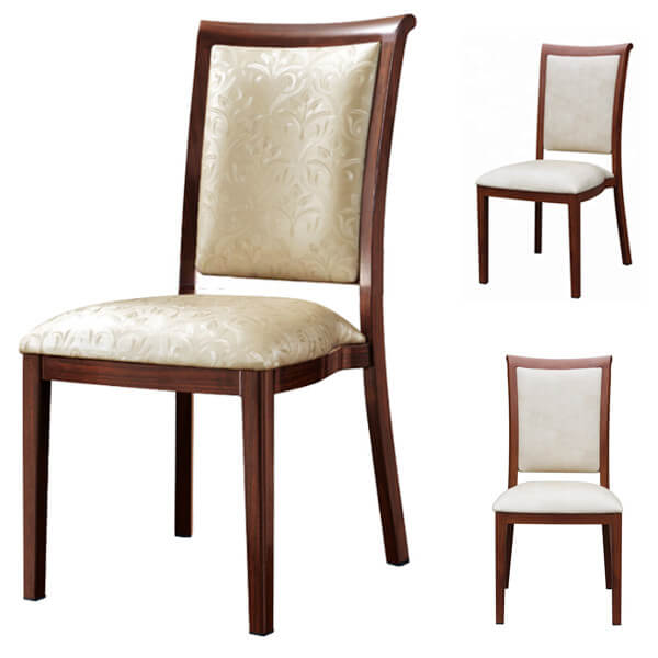 Stackable restaurant dining chairs