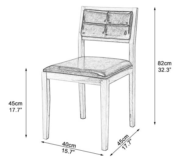 Cafe chair dimensions and size