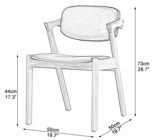 Wooden Cafe Chair Dimensions