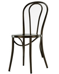 N-A1008 bentwood style Thonet metal cafe chairs