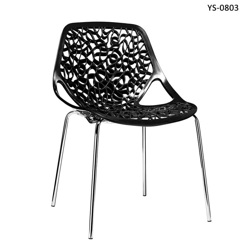 black plastic stackable visitor chairs