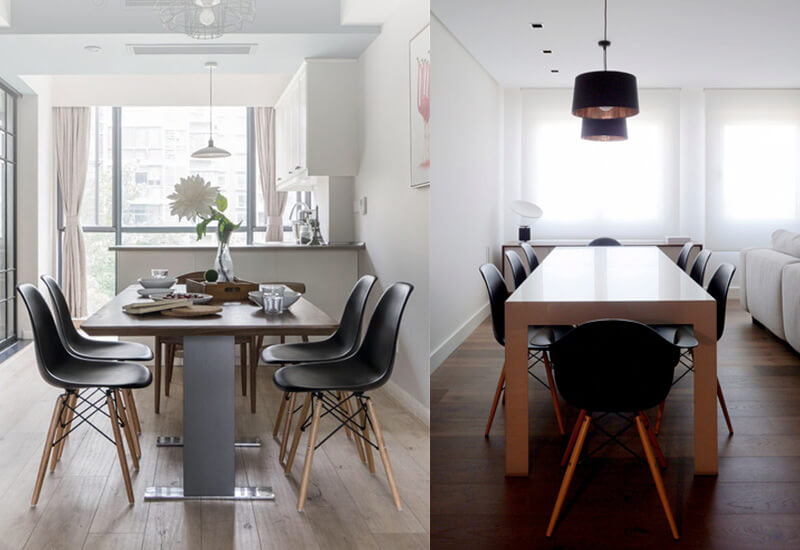 black eames chairs dining set