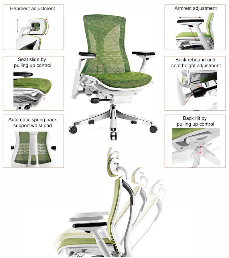 Features of ergonomic chair no wheels