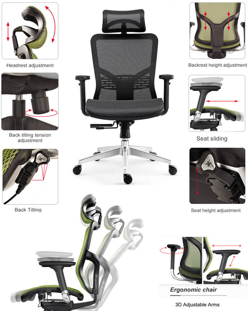 Features of adjustable office chairs