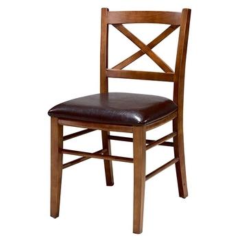 N-C6015 Cross Back Oak Dining Chairs