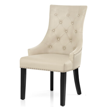 N-122 Nailhead Button Back Upholstered Dining Chairs