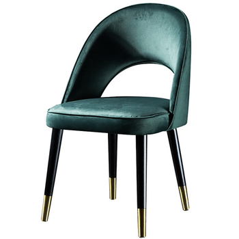 N-C3015 Velvet Dining Chairs with black legs